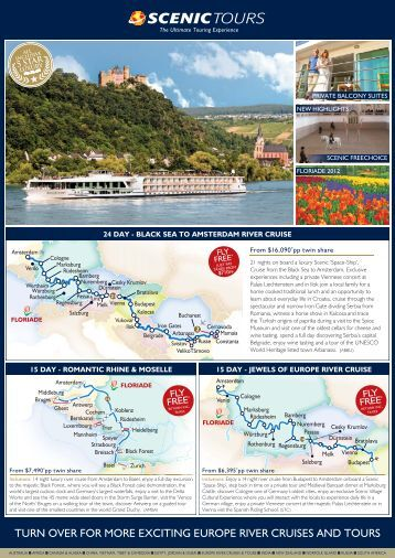 turn over for more exciting europe river cruises and ... - Scenic Tours