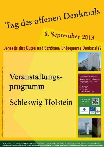 Programm SH - Tag des offenen Denkmals