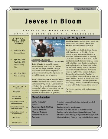 Jeeves in Bloom - Taproot Theatre Company