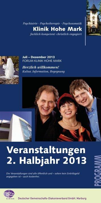 Veranstaltungen 2. Halbjahr 2013 PROGRAMM - Klinik Hohe Mark
