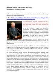 Wolfgang Thierse diskriminiert den Süden - Terra - Germania