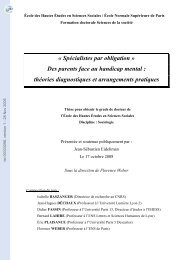 'Spécialistes par obligation'Des parents face au handicap mental ...