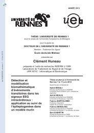 Détection et modélisation biomathématique d'évènements ...