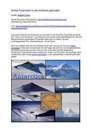 Antike Pyramiden in der Antarktis gefunden - Terra - Germania