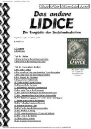Das andere Lidice - Inhaltsübersicht. Erich Kern. - Terra - Germania