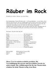 Räuber im Rock - Theaterverlag Arno Boas