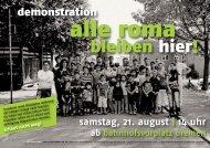 alle roma - Karawane für die Rechte der Flüchtlinge und MigrantInnen