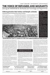 Ausgabe 01/2011 - Karawane für die Rechte der Flüchtlinge und ...