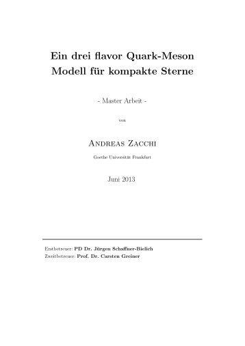 Ein drei flavor Quark-Meson Modell für kompakte Sterne - Institut für ...