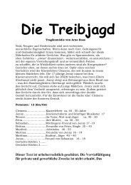 """""""Die Treibjagd"""" herunterladen. - Theaterverlag Arno Boas"""