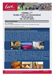 FORMEL 1TM Großer Preis von Deutschland Nürburgring 05.-07.07 ...