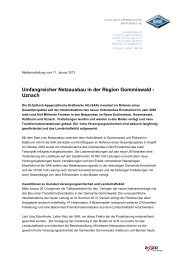 Umfangreicher Netzausbau in der Region Gommiswald ... - SAK