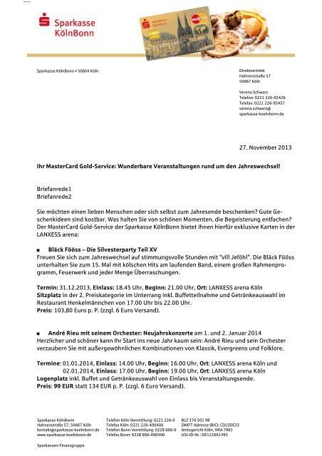 Newsletter Sparkasse Kölnbonn