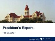 President's Report - Think St. Edward's University