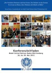 Konferenzleitfaden - Deutsche Model United Nations eV