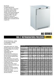 160 LT REFRIGERATORS/FREEZERS - Electrolux