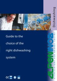Guide to the choice of the right dishwashing system Dish w ashing