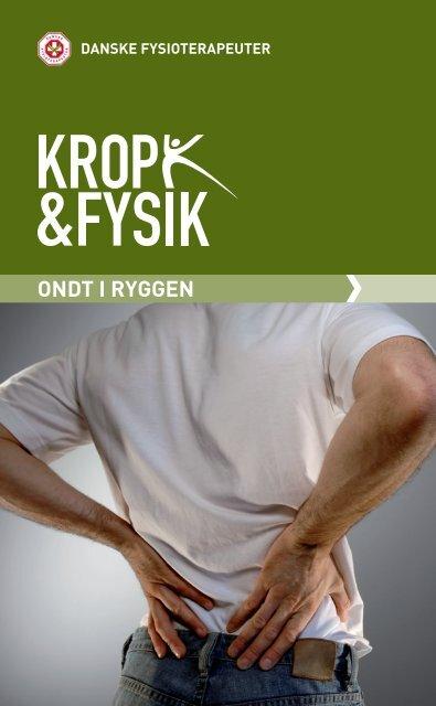Pjece: Ondt i ryggen - Danske Fysioterapeuter