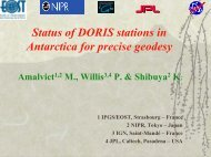 Status of DORIS stations in Antarctica for precise geodesy