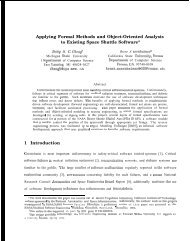 Applying Formal Methods and Object-Oriented Analysis to Existing ...