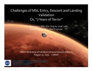 "Challenges of MSL Entry, Descent and Landing Validation Or, ""7 ..."