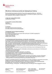 Öffentliches Verfahrensverzeichnis der Stadtsparkasse Felsberg