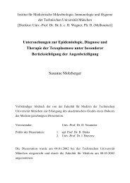 Untersuchungen zur Epidemiologie, Diagnose - tumb1.biblio.tu ...