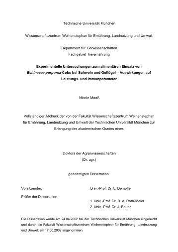 Technische Universität München Wissenschaftszentrum ...