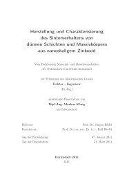 Herstellung und Charakterisierung des Sinterverhaltens von dünnen ...