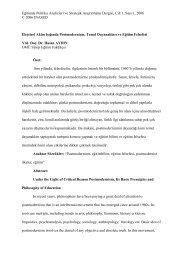 Eleştirel Aklın Işığında Postmodernizm, Temel Dayanakları ve Eğitim ...