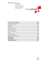 Amtsblatt Nr. 21 vom 24. Mai 2013 (164 KB), S. 1185 - Kanton Schwyz