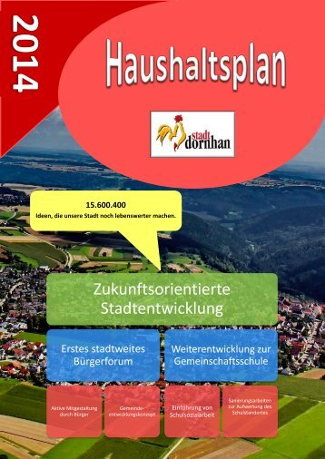 geht´s zum Haushaltsplan 2014 - Stadt Dornhan