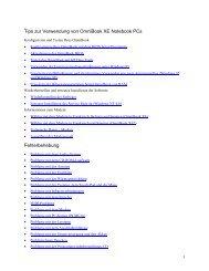 Tips zur Verwendung von OmniBook XE ... - Hewlett Packard