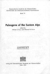 Paleogene of the Eastern Alps - Naturhistorisches Museum Wien