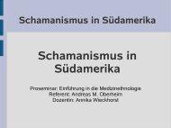 Schamanismus in Südamerika - UK-Online