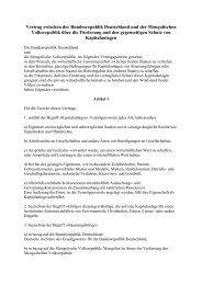 Vertrag zwischen der Bundesrepublik Deutschland und der ... - Unctad