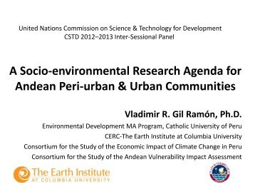A Socio-environmental Research Agenda for Andean Peri ... - Unctad