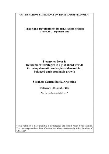 Central Bank, Argentina - Unctad