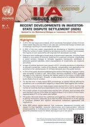 Recent Developments in Investor-State Dispute Settlement - Unctad