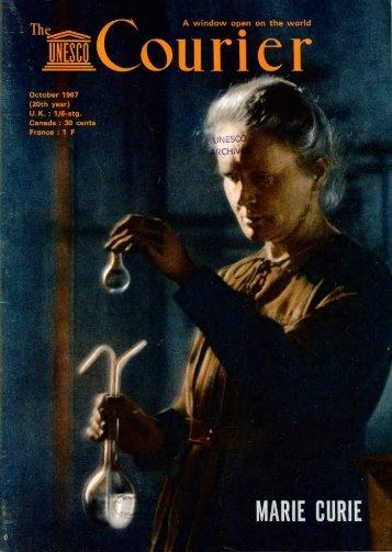Marie Curie; The Unesco courier: a window ... - unesdoc - Unesco