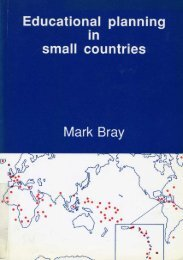 Educational planning in small countries; 1992 - unesdoc - Unesco