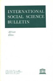 International social science bulletin - unesdoc - Unesco