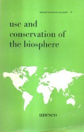 Use and conservation of the biosphere - unesdoc - Unesco