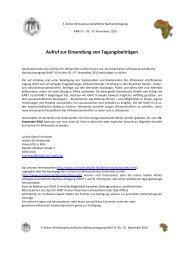 Aufruf zur Einsendung von Tagungsbeiträgen - Universität zu Köln
