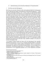 Grünberger, Personale Gleichheit