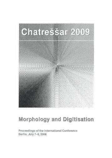 Ostgermanische Morphologie - Uni