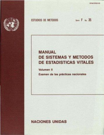 MANUAL DE SISTEMAS Y METODOS DE ESTADISTICAS VITALES