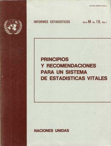 principios y recomendaciones para un sistema de estadisticas vitales