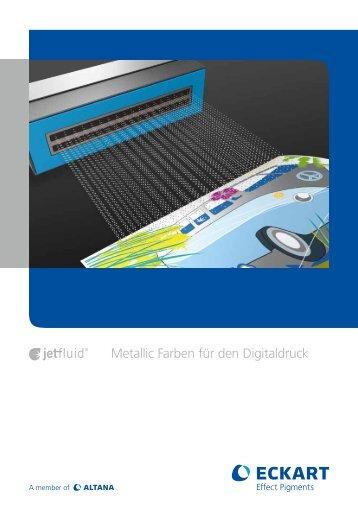 Metallic Farben für den Digitaldruck