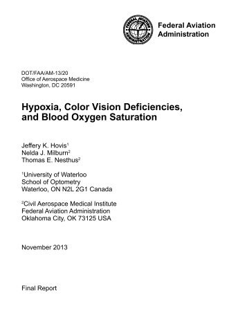 Hypoxia, Color Vision Deficiencies, and Blood Oxygen - National ...